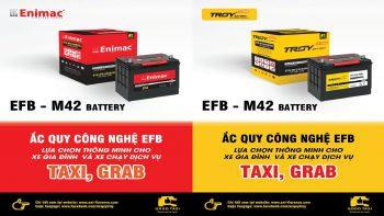 Ra mắt sản phẩm mới bình M42 – ắc quy công nghệ EFB lựa chọn thông minh cho xe Gia đình và xe chạy dịch vụ Taxi, Grap.