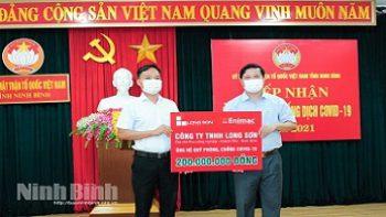 Công ty TNHH Long Sơn ủng hộ công tác phòng, chống đại dịch COVID-19.